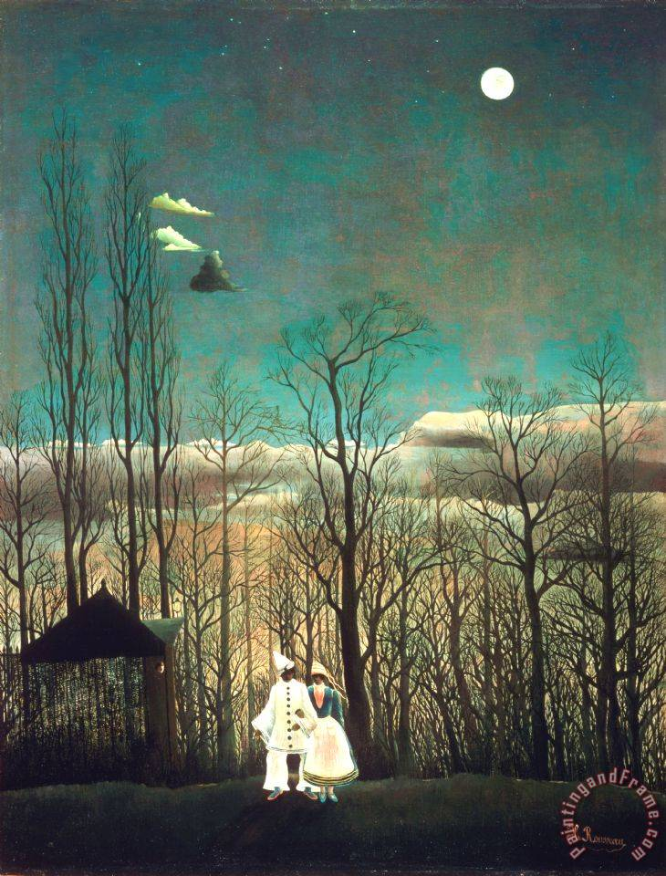 Carnival Evening painting - Henri Rousseau Carnival Evening Art Print