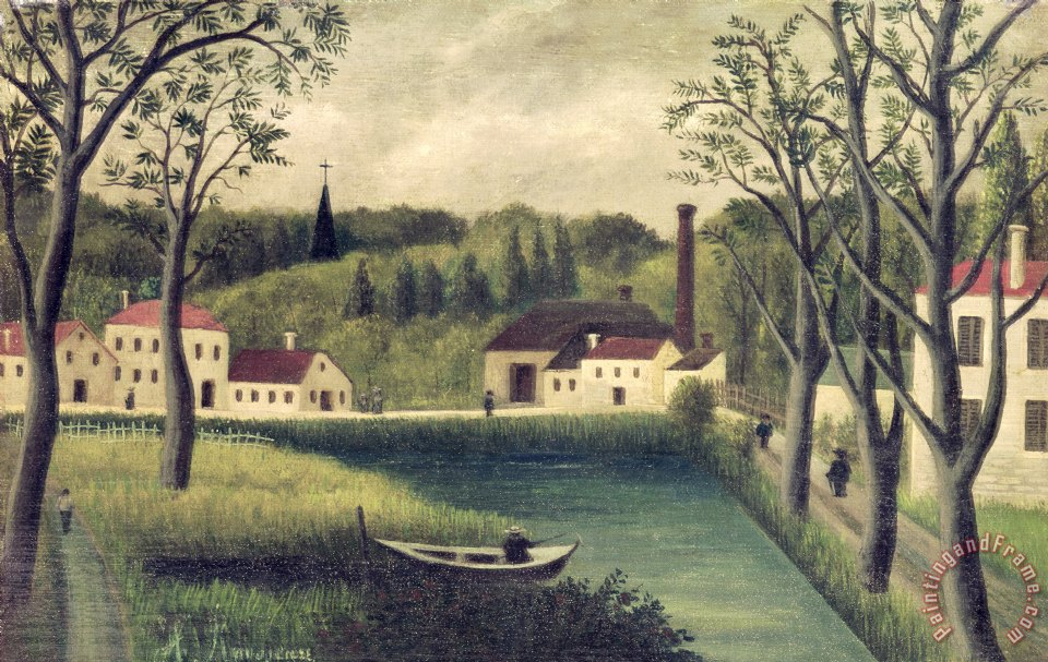 Henri Rousseau Landscape with a Fisherman Art Print