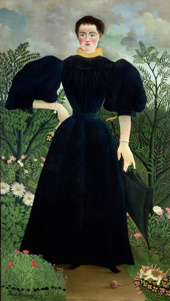 Portrait of a Woman painting - Henri Rousseau Portrait of a Woman Art Print