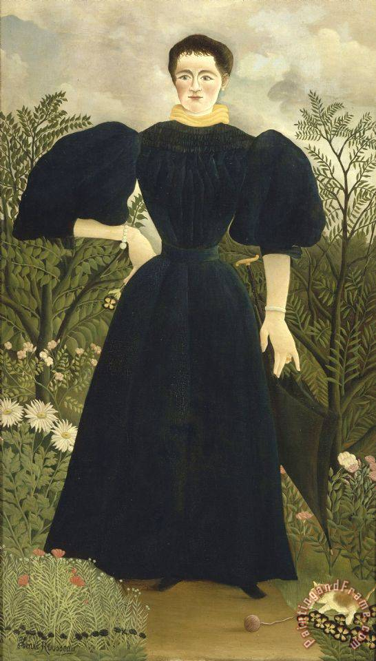 Henri Rousseau Portrait of Madame M; Art Print