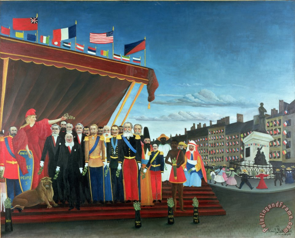 Representatives of the Forces greeting the Republic as a Sign of Peace painting - Henri Rousseau Representatives of the Forces greeting the Republic as a Sign of Peace Art Print