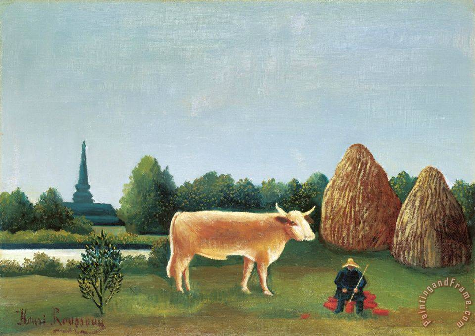 Henri Rousseau Scene in Bagneux on The Outskirts of Paris Art Print
