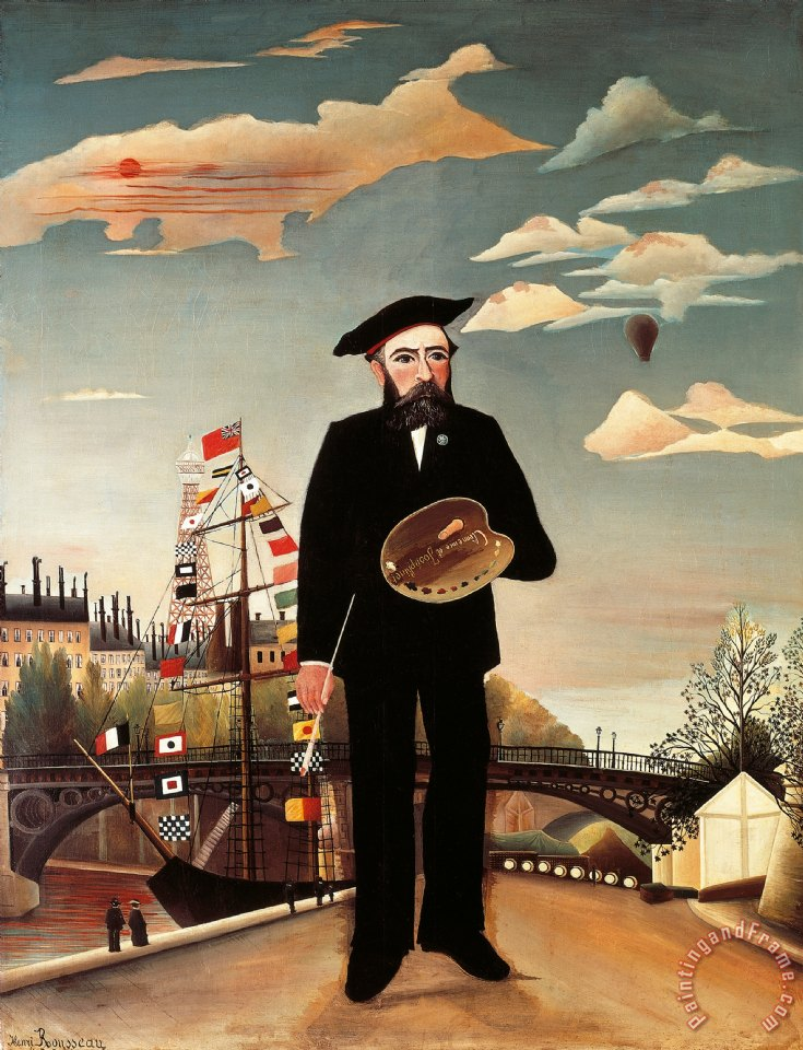 Self Portrait painting - Henri Rousseau Self Portrait Art Print