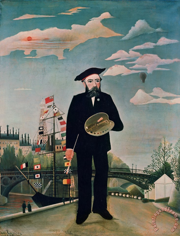 Self Portrait from Lile Saint Louis painting - Henri Rousseau Self Portrait from Lile Saint Louis Art Print