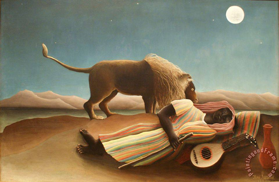Henri Rousseau The Sleeping Gypsy II Art Print