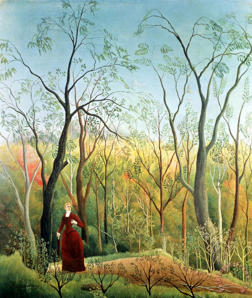 The Walk in the Forest painting - Henri Rousseau The Walk in the Forest Art Print