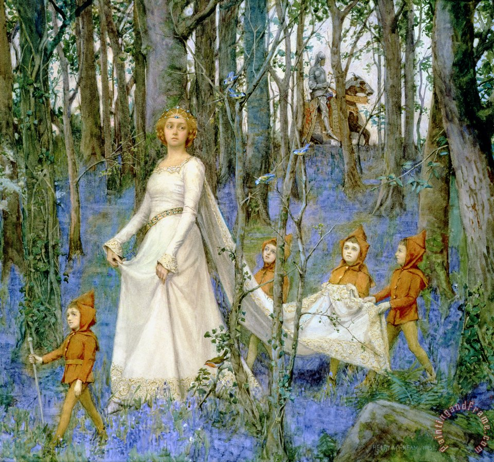 The Fairy Wood painting - Henry Meynell Rheam The Fairy Wood Art Print