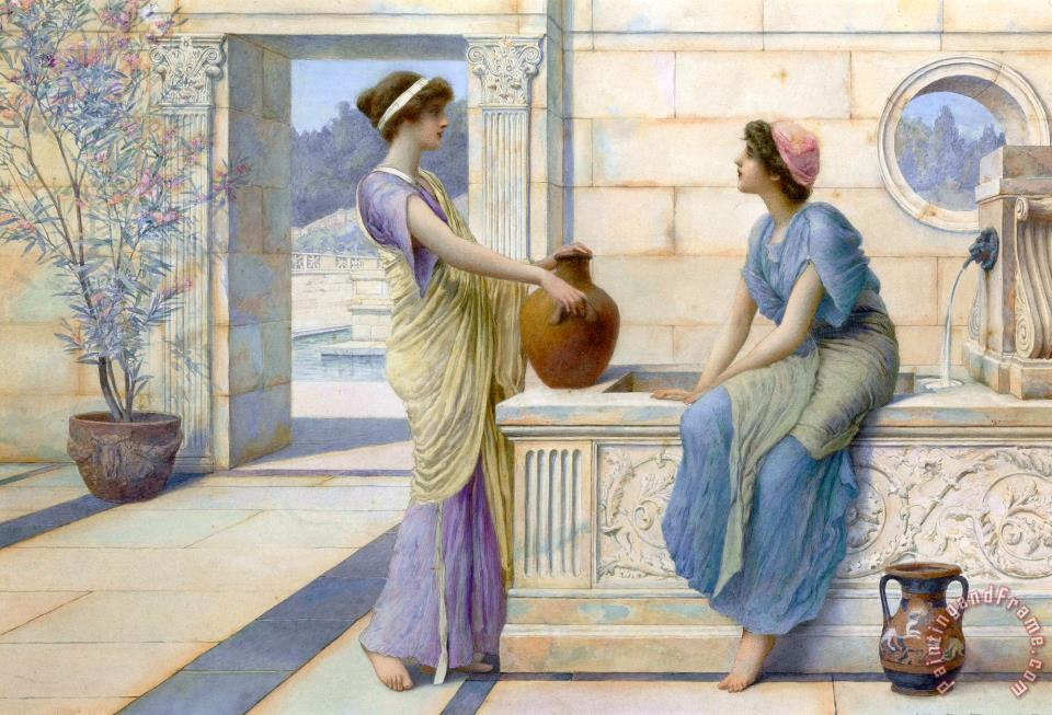 Henry Ryland Two Women Of Ancient Greece Filling Their