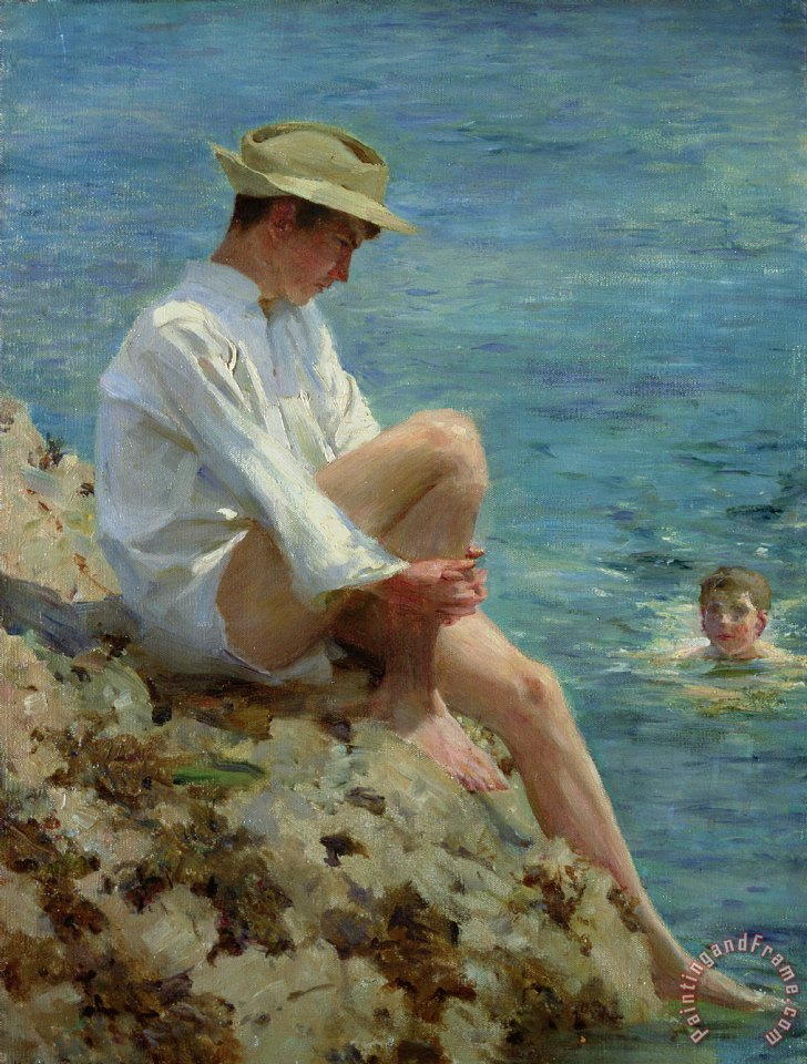 Boys Bathing painting - Henry Scott Tuke Boys Bathing Art Print