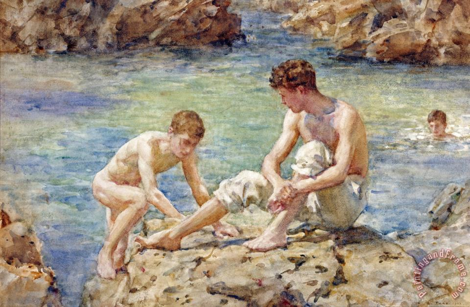 Henry Scott Tuke The Bathers Art Print