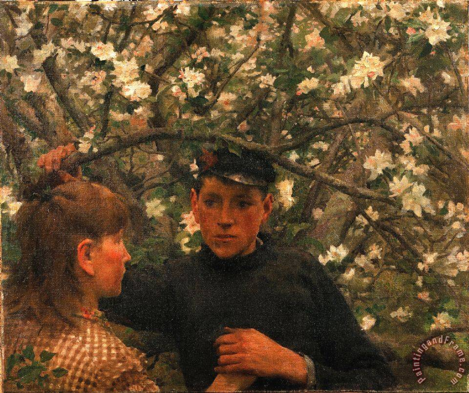 Henry Scott Tuke The Promise Art Print