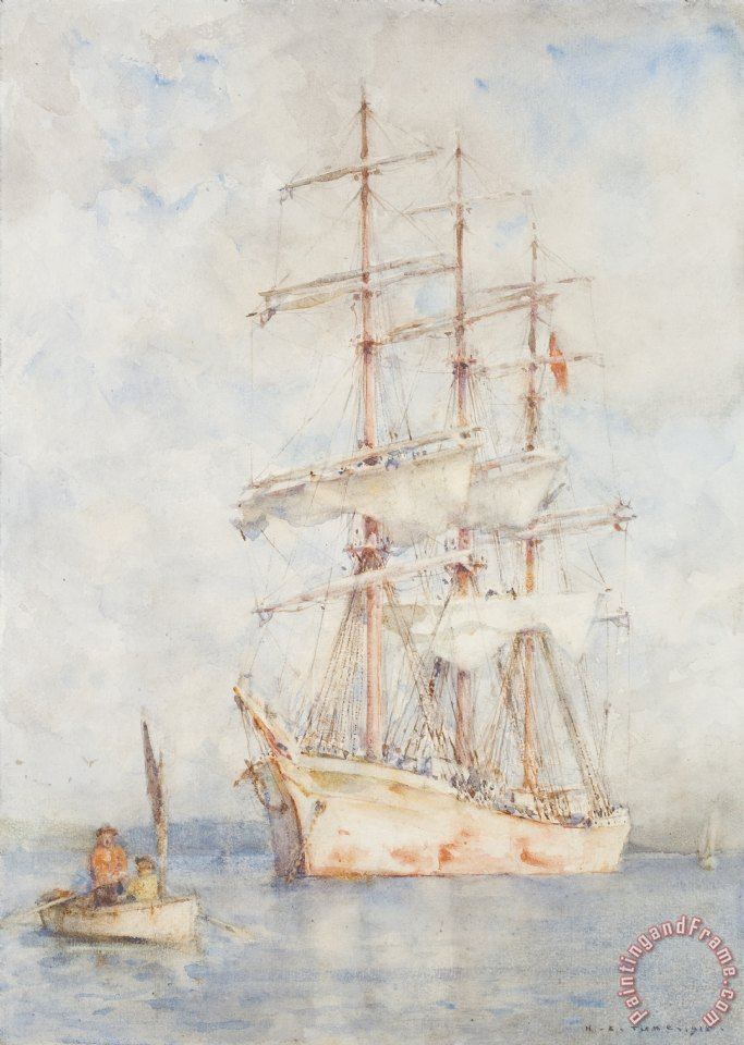 Henry Scott Tuke The White Ship Art Print