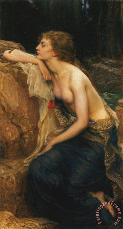 Lamia painting - Herbert James Draper Lamia Art Print