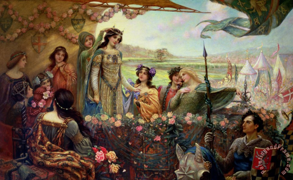 Lancelot and Guinevere painting - Herbert James Draper Lancelot and Guinevere Art Print