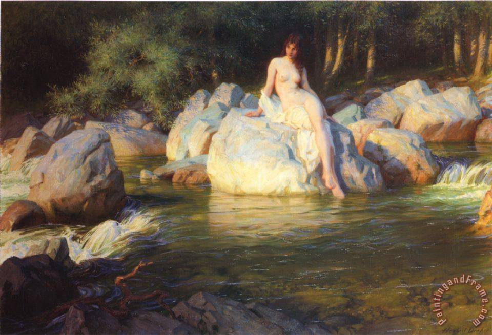 The Kelpie painting - Herbert James Draper The Kelpie Art Print