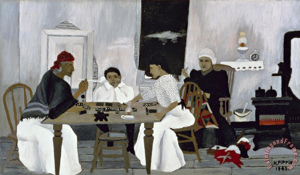 Horace Pippin Domino Players Painting Domino Players