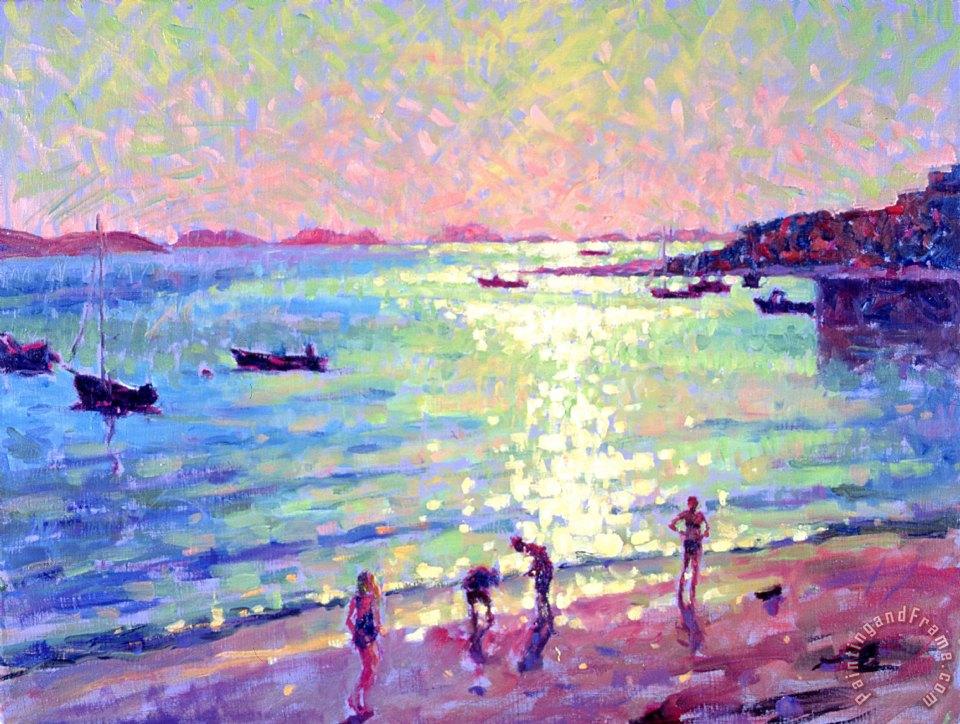 Hugo Grenville Children On The Beach Early Morning Light