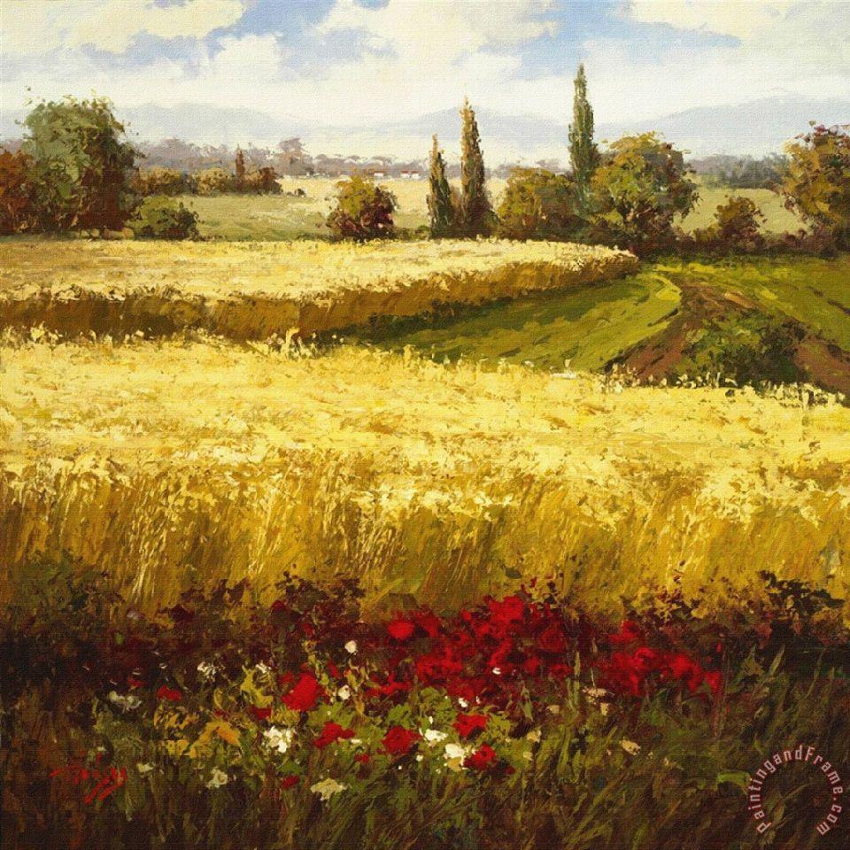 Hulsey Golden Harvest Painting Golden Harvest Print For Sale