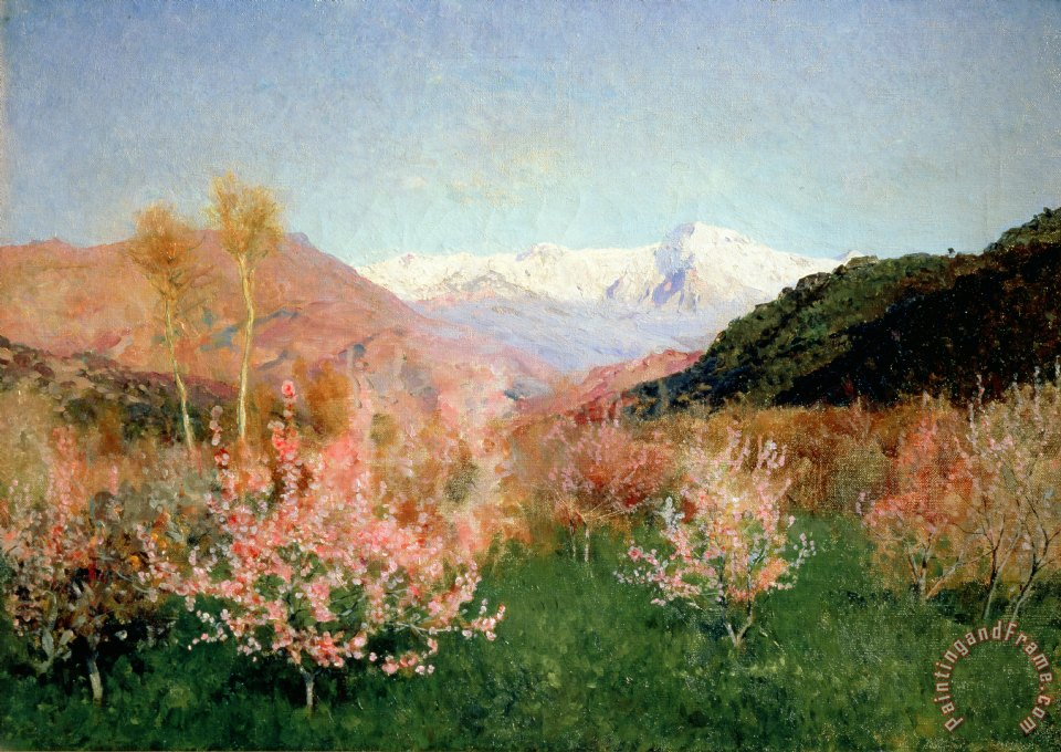 Spring in italy painting - isaak ilyich levitan spring in italy art