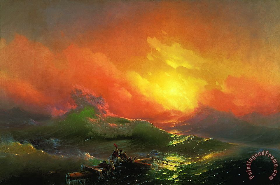 Ivan Aivazovsky Ninth Wave Art Painting