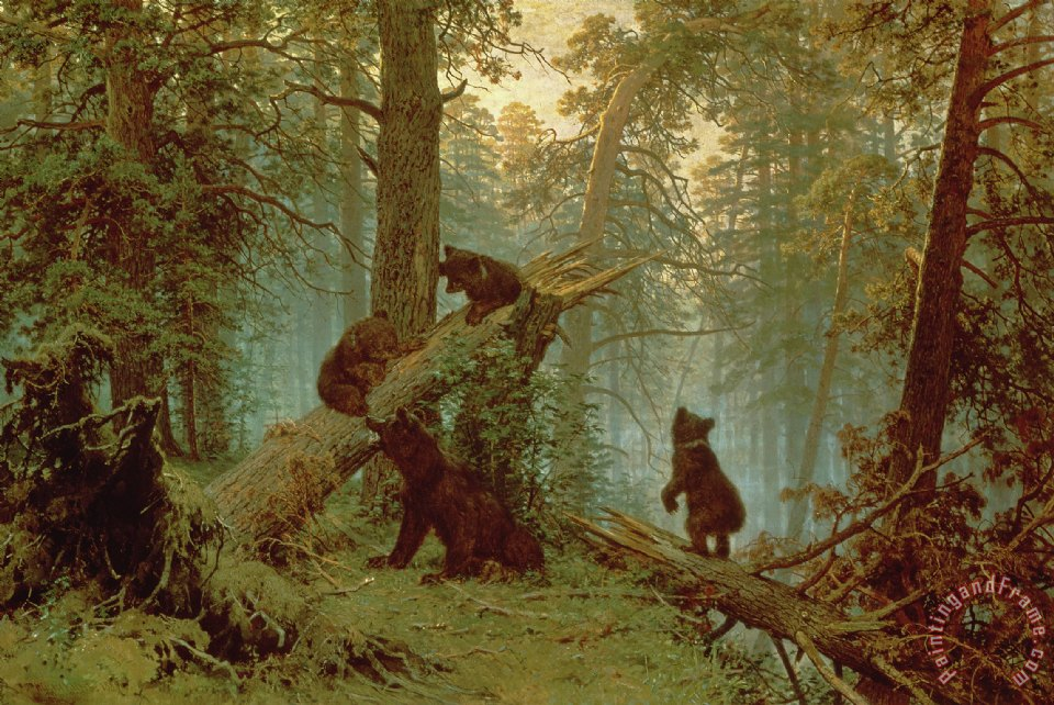 Morning in a Pine Forest painting - Ivan Ivanovich Shishkin Morning in a Pine Forest Art Print