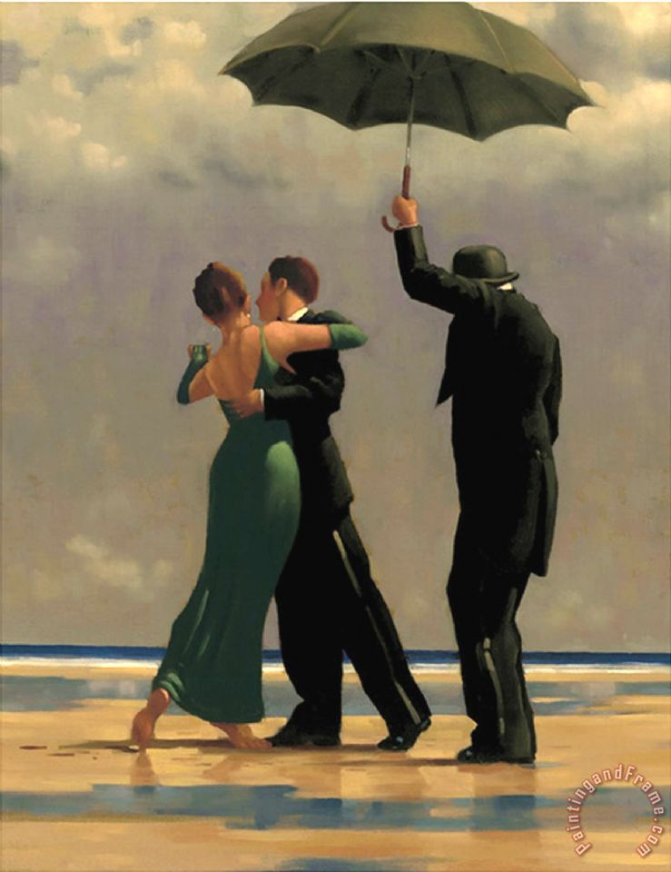 Dancer in Emerald painting - Jack Vettriano Dancer in Emerald Art Print