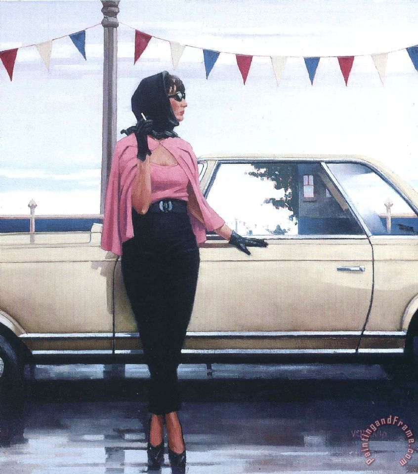 Suddenly One Summer painting - Jack Vettriano Suddenly One Summer Art Print