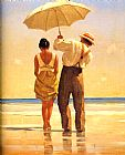 Mad Dogs Detail by Jack Vettriano