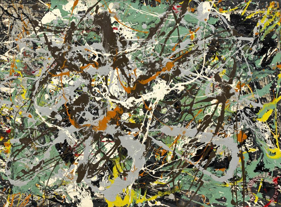 Untitled (green Silver) painting - Jackson Pollock Untitled (green Silver) Art Print