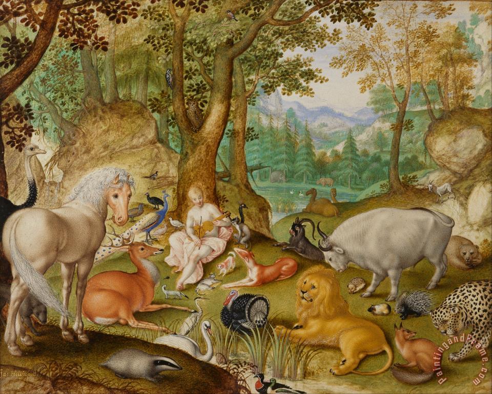 Jacob Hoefnagel Orpheus Charming The Animals painting ... - photo#47