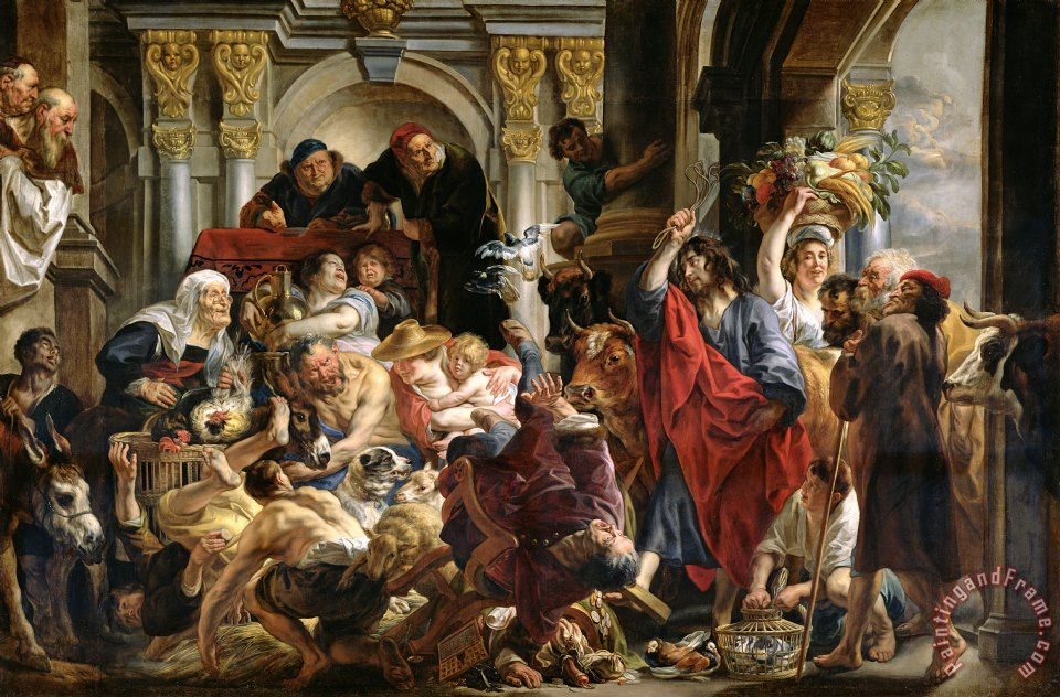 Christ Driving the Merchants from the Temple painting - Jacob Jordaens Christ Driving the Merchants from the Temple Art Print