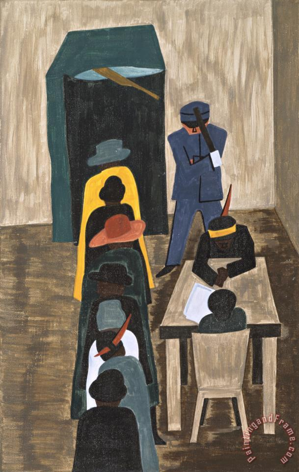 Jacob Lawrence The Migration Series Panel No 59 In The