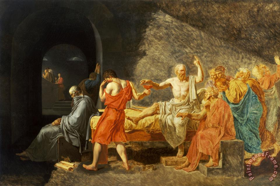 an analysis of jacques louis davis painting the death of socrates David, jacques-louis  the brothers swear an oath to fight to the death for their family and country enthusiasm for the painting was so intense,.