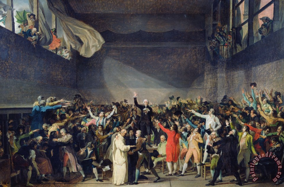 The Tennis Court Oath painting - Jacques Louis David The Tennis Court Oath Art Print