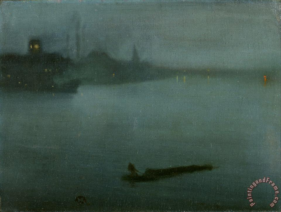 James Abbott Mcneill Whistler Nocturne In Blue And Silver