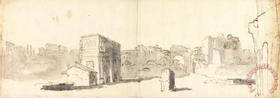 Rome, a View of The Arch of Constantine with Other Ruins painting - James Barry Rome, a View of The Arch of Constantine with Other Ruins Art Print