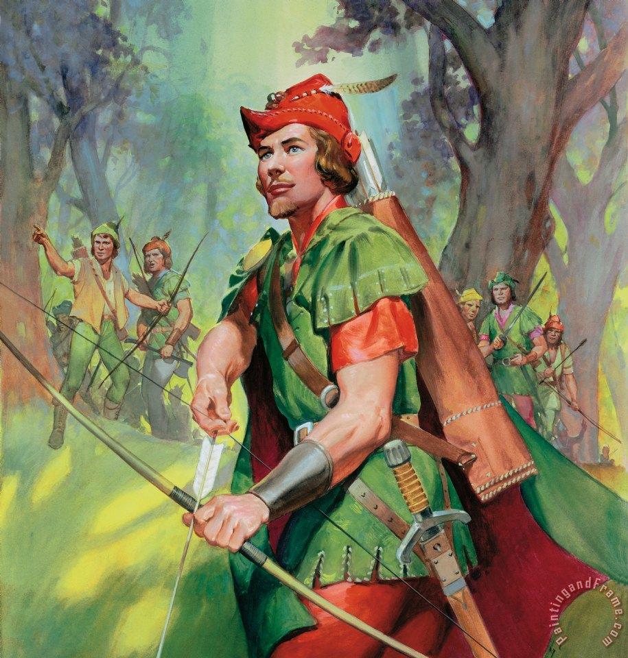 James Edwin McConnell Robin Hood painting - Robin Hood ...