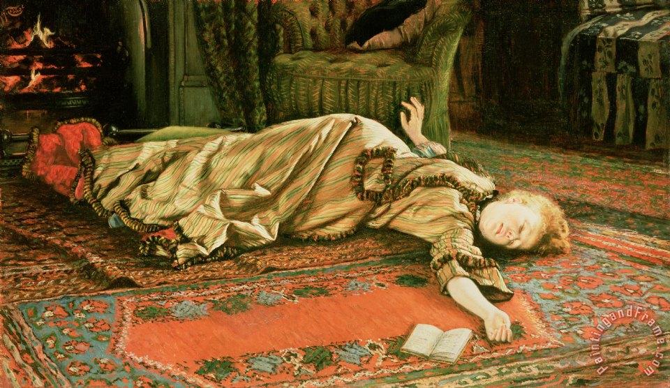 James Jacques Joseph Tissot Abandoned Painting Abandoned