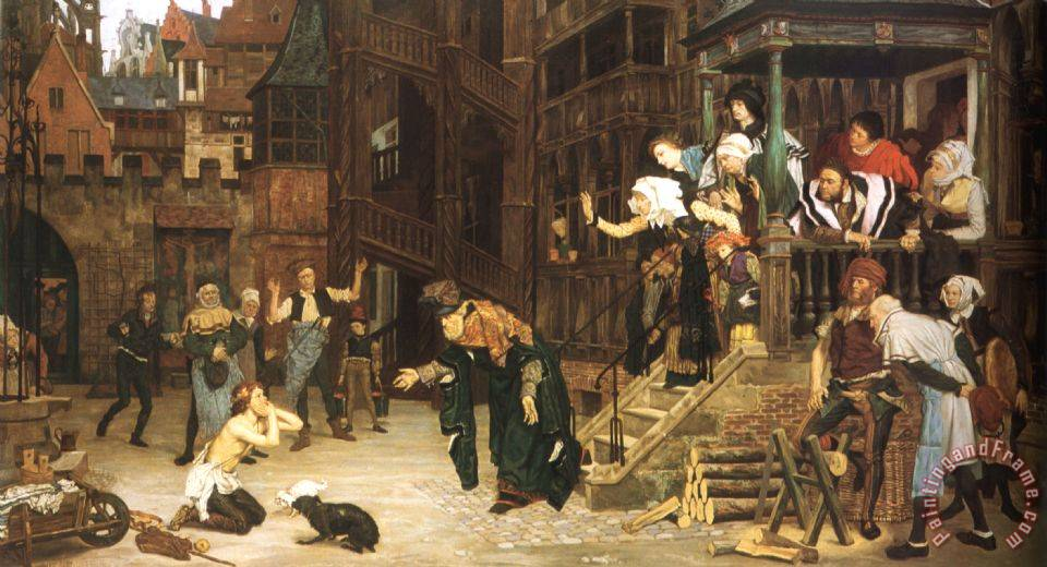 The Return of The Prodigal Son painting - James Jacques Joseph Tissot The Return of The Prodigal Son Art Print