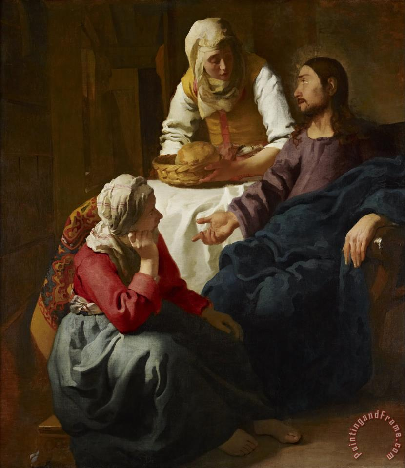 Jan Vermeer Christ in The House of Martha And Mary Art Print