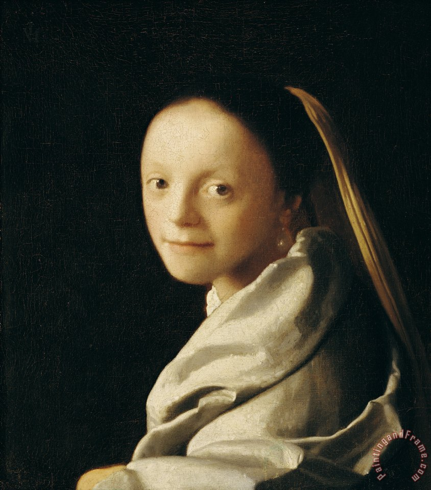 Jan Vermeer Portrait of a Young Woman Art Print