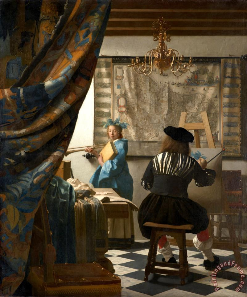 Jan Vermeer The Art of Painting Art Print