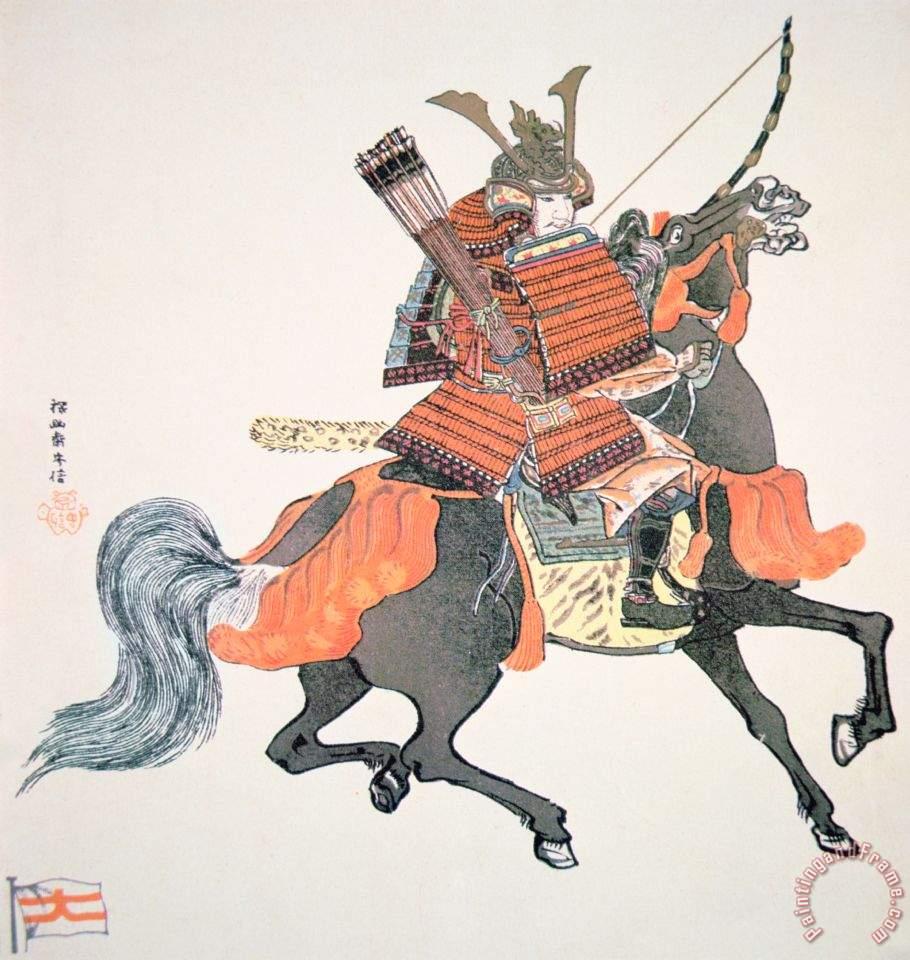 Samurai painting - Japanese School Samurai Art PrintOld Samurai Painting