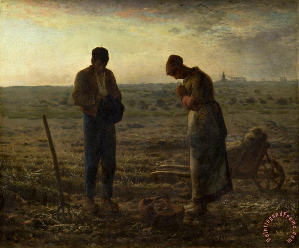 Jean-Francois Millet The Angelus Art Print
