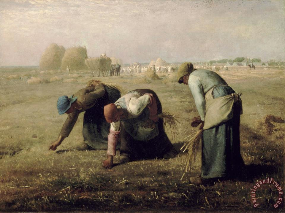 Gleaners painting - Jean-Francois Millet Gleaners Art Print