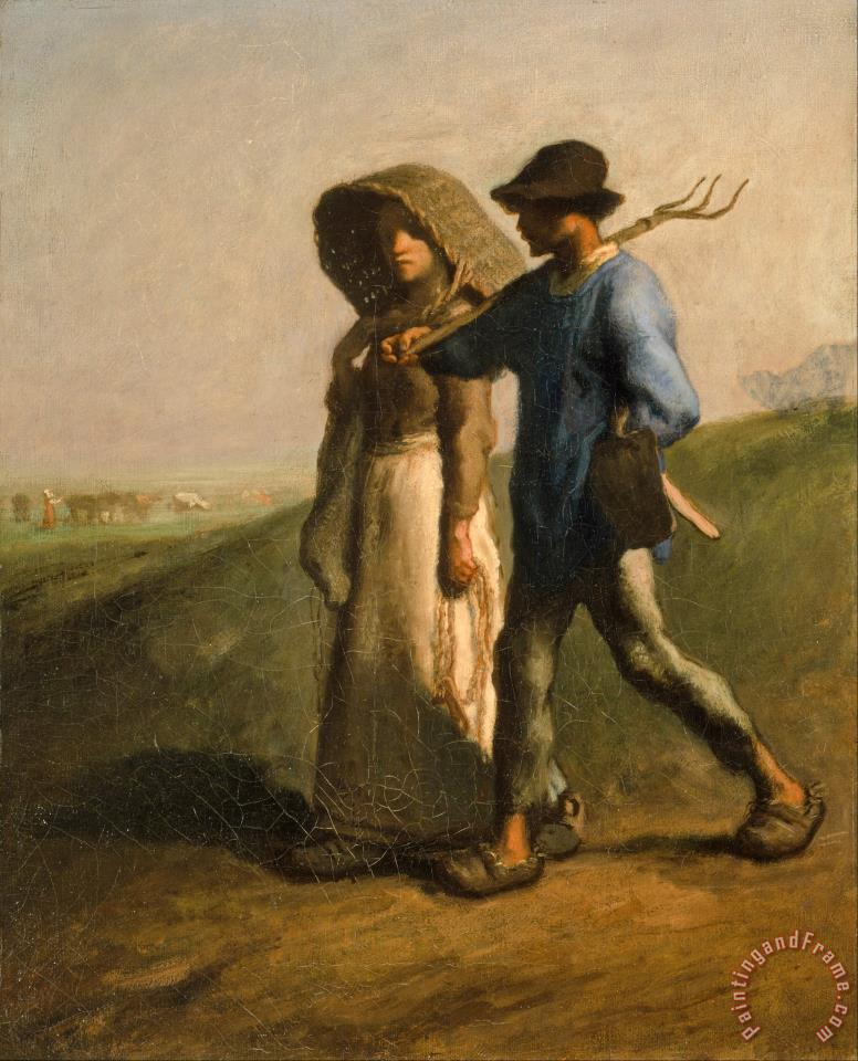 Going to Work painting - Jean-Francois Millet Going to Work Art Print