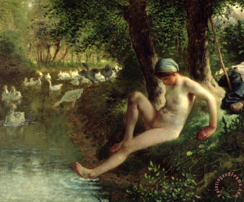 Jean-Francois Millet The Bather Art Print