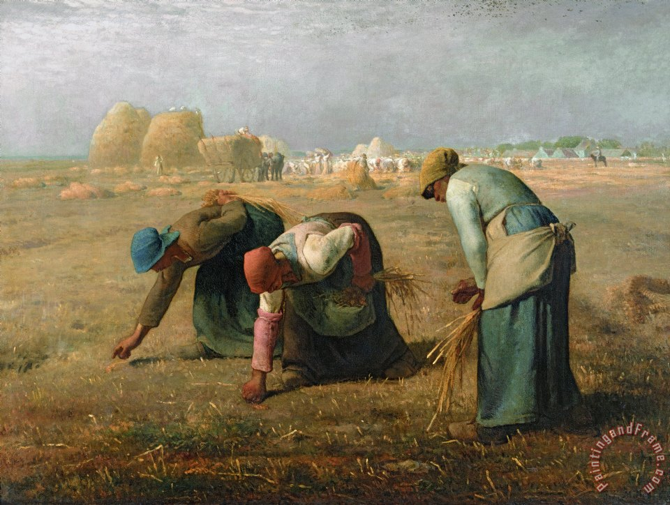 The Gleaners painting - Jean-Francois Millet The Gleaners Art Print