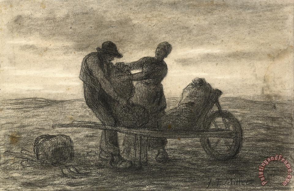 The Potato Harvest (la Recolte Des Pommes De Terre) painting - Jean-Francois Millet The Potato Harvest (la Recolte Des Pommes De Terre) Art Print