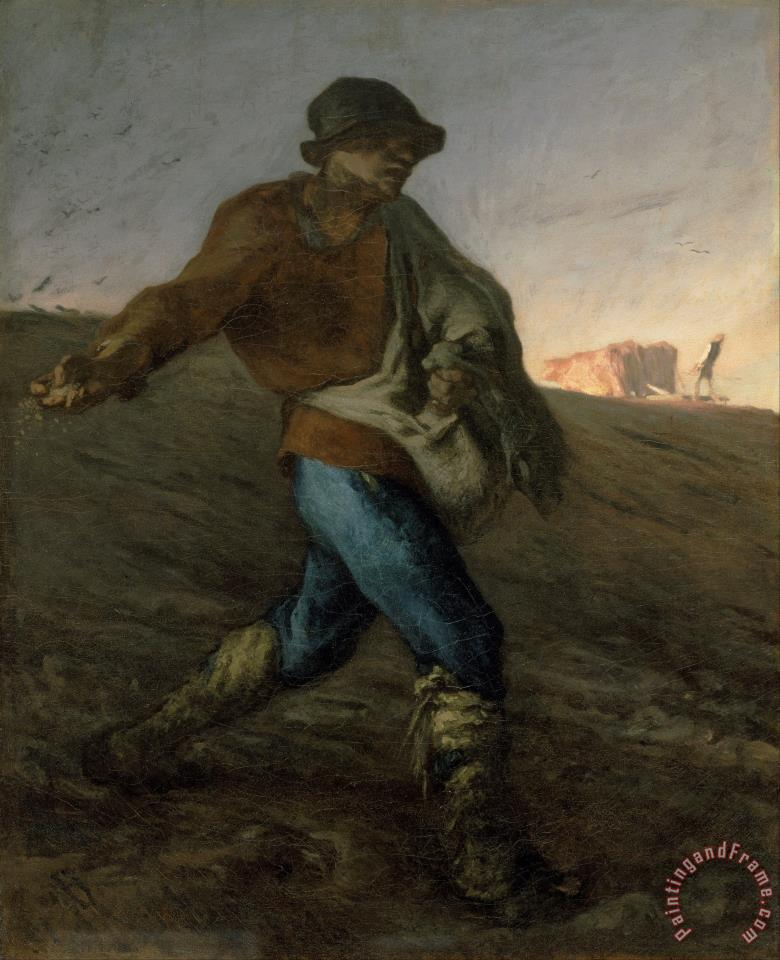 The Sower painting - Jean-Francois Millet The Sower Art Print